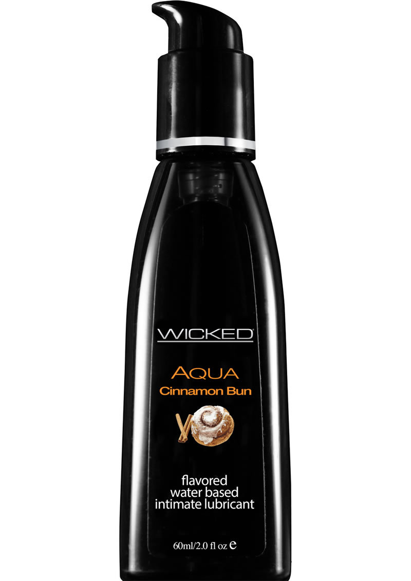 Wicked Aqua Water Based Flavored Lubricant Cinnamon Bun 2 Ounce
